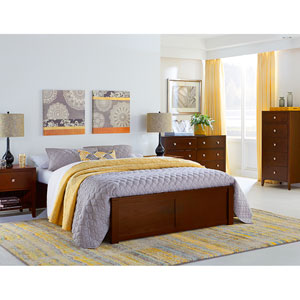 Pulse Cherry Queen Platform Bed