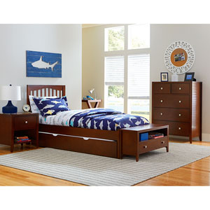 Pulse Cherry Full Mission Bed with Trundle
