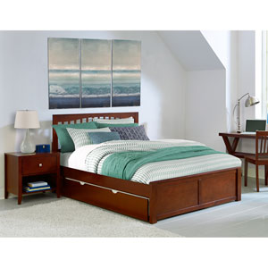 Pulse Cherry Queen Mission Bed with Trundle