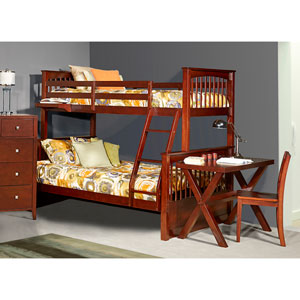 Pulse Cherry Twin Over Full Bunk Bed