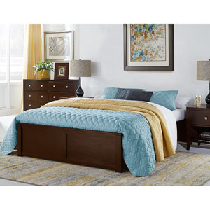 Pulse Chocolate Queen Platform Bed