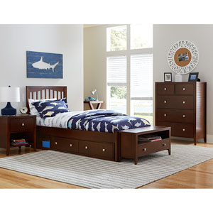 Pulse Chocolate Twin Mission Bed with Storage