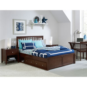 Pulse Chocolate Queen Mission Bed with Storage