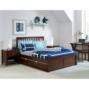 Pulse Chocolate Queen Mission Bed with Trundle