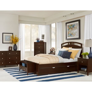Pulse Chocolate Queen Arch Bed with Trundle