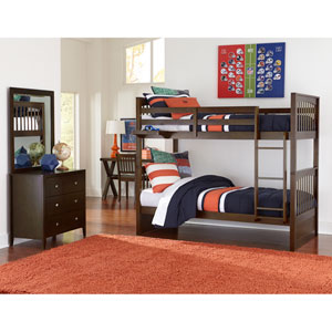 Pulse Chocolate Twin Bunk Bed