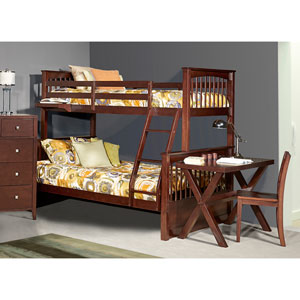 Pulse Chocolate Twin Over Full Bunk Bed