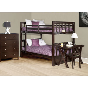 Pulse Chocolate Full Bunk Bed
