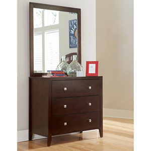 Pulse Chocolate 3 Drawer Chest with Mirror