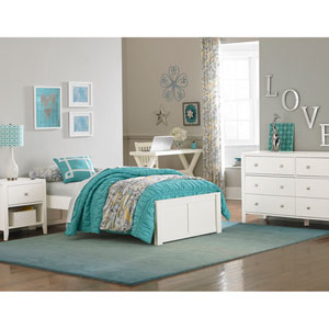 Pulse White Twin Platform Bed