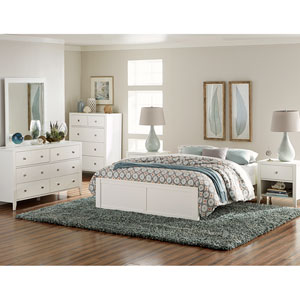 Pulse White King Platform Bed