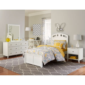 Pulse White Twin Arch Bed
