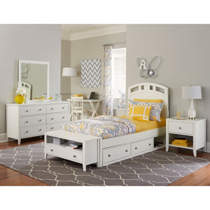 Pulse White Twin Arch Bed Storage