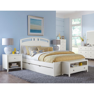 Pulse White Queen Arch Bed with Trundle