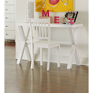 Pulse White Desk with Chair