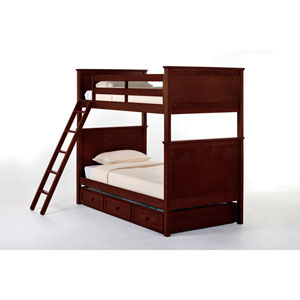 School House Cherry Casey Twin Bunk Bed with Trundle