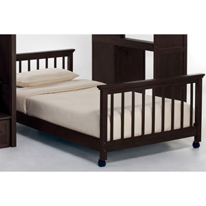 School House Chocolate Twin Lower Stair Loft Bed