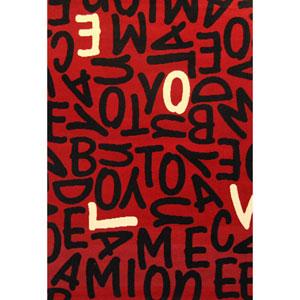 Terra Jumble Love  Multicolor Rectangular: 3 Ft. 9-Inch x 5 Ft. 6-Inch  Rug