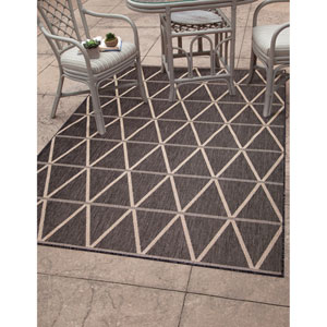 Veranda Charcoal Rectangular: 5 Ft. 3 In. x 7 Ft. 6 In.  Rug
