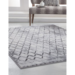 Essentials Ivory and Gray Rectangular: 5 Ft. 3 In. x 7 Ft. 6 In.  Rug