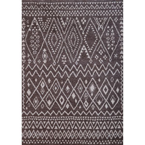 Granada Indora Chocolate and Ivory Rectangular: 5 Ft 3 In x 7 Ft 6 In Rug