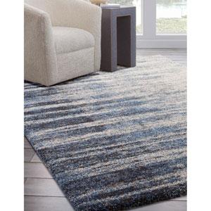 Granada Blue and Black Rectangular: 5 Ft. 3 In. x 7 Ft. 6 In.  Rug