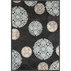 Napa Dante Charcoal Rectangular: 5 Ft. 3 In. x 7 Ft. 6 In. Rug