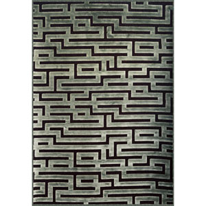 Napa Seafoam and Charcoal Rectangular: 5 Ft 3 In x 7 Ft 6 In Rug