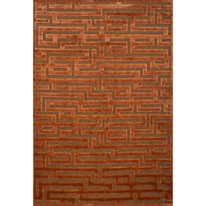 Napa Rust and Medium Brown Rectangular: 5 Ft 3 In x 7 Ft 6 In Rug