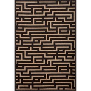 Abacasa Napa Maze Charcoal/Beige Area Rug