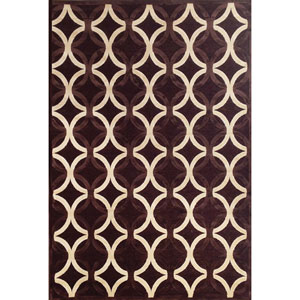 Napa Chocolate and Ivory Rectangular: 5 Ft 3 In x 7 Ft 6 In Rug