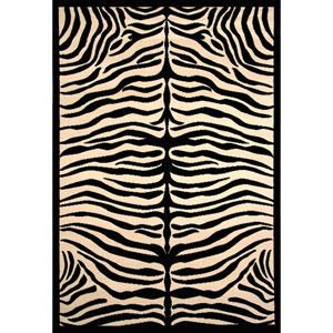 Terra Safari Black and Ivory Rectangular: 3 Ft. 9-Inch x 5 Ft. 6-Inch  Rug