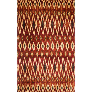 Sonoma Backgammon Rust Rectangular: 5 Ft. 3 In. x 7 Ft. 6 In. Rug