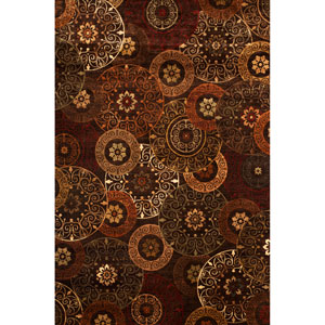 Sonoma Rust and Brown Rectangular: 5 Ft 3 In x 7 Ft 6 In Rug