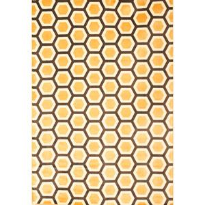 Sonoma Honeycomb Tangerine Rectangular: 5 Ft. 3 In. x 7 Ft. 6 In. Rug
