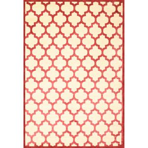Sonoma Trellis Cranberry Rectangular: 5 Ft. 3 In. x 7 Ft. 6 In. Rug