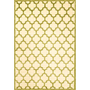Sonoma Trellis Apple Green Rectangular: 5 Ft. 3 In. x 7 Ft. 6 In. Rug