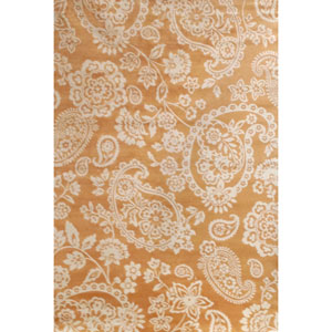 Sonoma Tangerine and Ivory Rectangular: 5 Ft 3 In x 7 Ft 6 In Rug