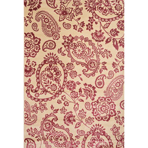 Sonoma Ivory and Raspberry Rectangular: 5 Ft 3 In x 7 Ft 6 In Rug
