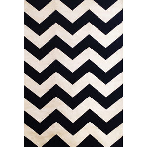 Sonoma Black and Ivory Rectangular: 5 Ft 3 In x 7 Ft 6 In Rug
