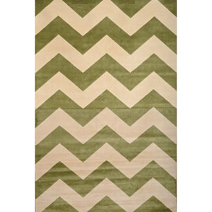 Sonoma Green and Ivory Rectangular: 5 Ft 3 In x 7 Ft 6 In Rug
