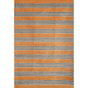 Sonoma Tangerine and Light Blue Rectangular: 5 Ft 3 In x 7 Ft 6 In Rug