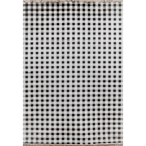 Sonoma Tartan Charcoal and Ivory Rectangular: 5 Ft 3 In x 7 Ft 6 In Rug