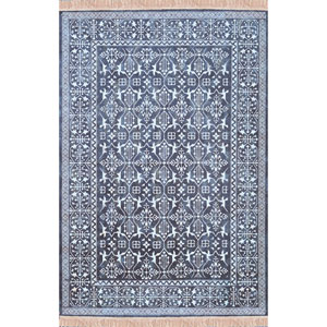 Sonoma Rothbury Navy and White Rectangular: 5 Ft 3 In x 7 Ft 6 In Rug