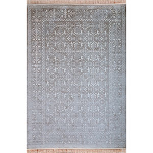 Sonoma Rothbury Silver and White Rectangular: 5 Ft 3 In x 7 Ft 6 In Rug