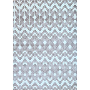 Sonoma Leyton Silver and Charcoal Rectangular: 5 Ft 3 In x 7 Ft 6 In Rug