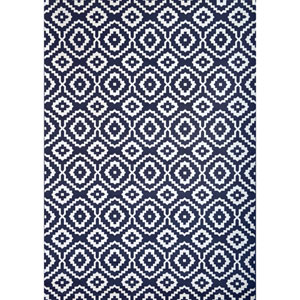 Sonoma Verona Navy and White Rectangular: 5 Ft 3 In x 7 Ft 6 In Rug