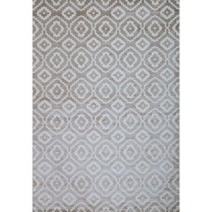 Sonoma Verona Silver and White Rectangular: 5 Ft 3 In x 7 Ft 6 In Rug