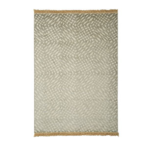 Sonoma Caracol Silver and Grey Rectangular: 5 Ft 3 In x 7 Ft 6 In Rug