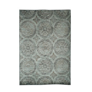 Sonoma Ana Grey Blue and Chocolate Rectangular: 5 Ft 3 In x 7 Ft 6 In Rug